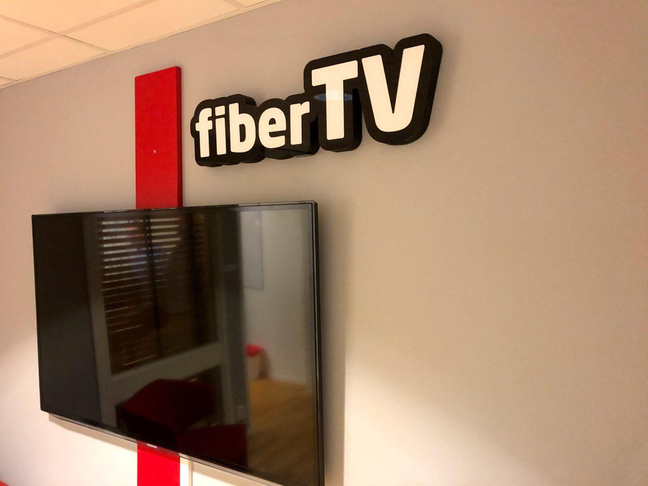FiberTV - skylt