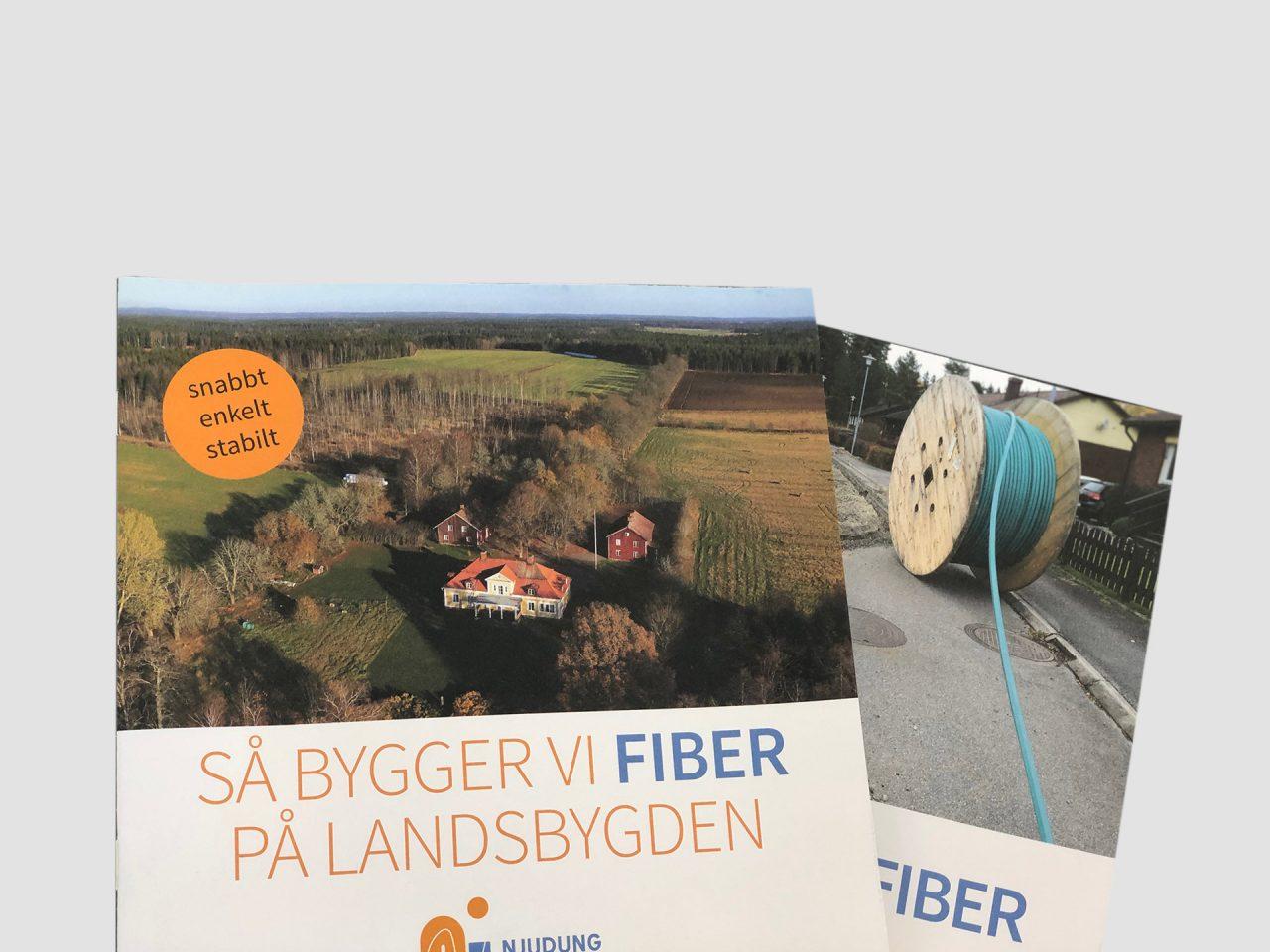 Njudung fiber på landsbygden