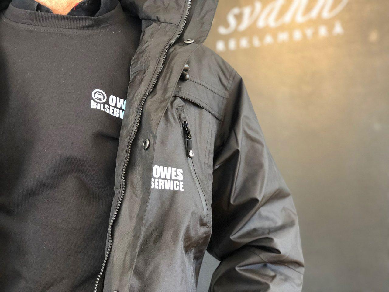 Owes bilservice - profilkläder med tryck